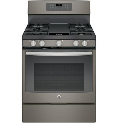 GE 5.0 Cu. Ft. Self-Cleaning Freestanding Gas Convection Range Slate JGB700EEJES