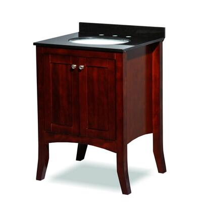 ST6-30-CHRY 30 inch  Belmont Decor Charleston single sink vanity with Granite Top  Tapered Legs  and Simple Pulls in
