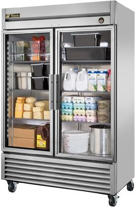 T-49G-LD 55 inch  T-Series Glass Door Reach-In Refrigerator with 43.5 cu. ft. Total Capacity  Double Pane Thermal Glass Doors  6 Adjustable Heavy Duty Wire Shelves