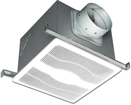E80DH Exhaust Fan with 2 Fan Speeds  80 CFM  23 Gauge Galvanized Steel Housing  Polymeric Grill  and Humidity Sensor  in