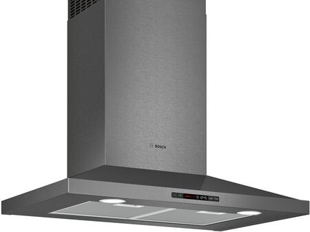 HCP80641UC 30 inch  800 Series Pyramid Chimney Range Hood with 600 CFM Blower  in Black Stainless