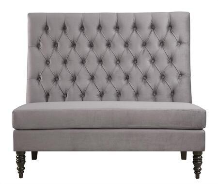 DS-2506-400-401 Upholstery Banquette Tucra Velvet Skylark in Silver