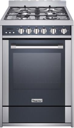 Magic Chef Freestanding Oven MCSRG24S 24 2.7 cu. ft. Gas Range with Convection, Stainless Steel
