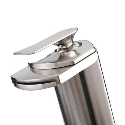 81H19-BN Modern Brushed Nickel Vessel Sink Bathroom Waterfall