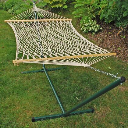 6250 Single Rope Hammock and Frame Combination with Steel and Cotton in