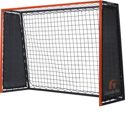 TR5000W Striker Trainer Dual-Rebound Soccer Trainer Goal with a Frame  Bungee Cords  a Rebound Net  2 Side Nets  4 U-Shaped Stakes and a Vertical Blocking
