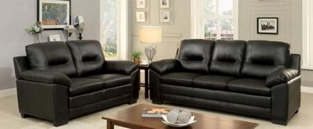 Parma Collection CM6324BK-SL 2-Piece Living Room Set with Stationary Sofa and Loveseat in