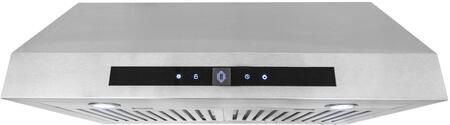 UMC30-CFM 30 inch  Under Cabinet Range Hood with 380 CFM  Digital Controls  3 Fan Speeds  Permanent Filters and LED Lighting  in Stainless