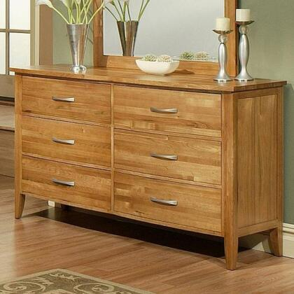220606 Firefly Dresser with Full Extension Drawer Glides and English Dovetail Drawer Boxes in a Wheat