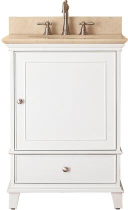 Windsor Collection WINDSOR-VS24-WT-B 24 inch  Sink Vanity with Galala Beige Marble Top  Undermount Sink  Soft-Close Door and Soft-Close Drawer in