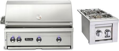 2-Piece Stainless Steel Outdoor Kitchen Package with VQGI5360NSS 36