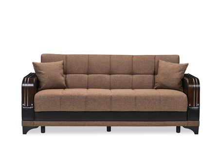 Almira Collection ALMIRA SOFABED COMET BROWN 85