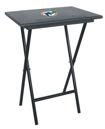 86-1008 Miami Dolphins TV Tray Set With Official Team Color and Logo & Stand (Sold In Sets Of