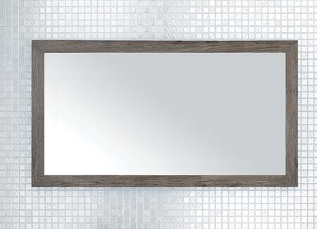 Sangallo Collection FVSTAR40MR 40 inch  x 22 inch  Mirror with Shaker Style Frame and Hanging Wire Included in Stargazer