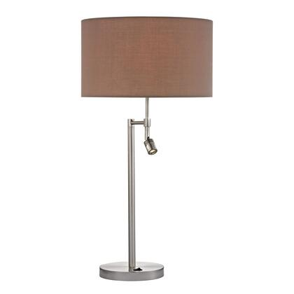 D2551 Beaufort Table Lamp in Satin Nickel with Adjustable LED Reading thumbnail