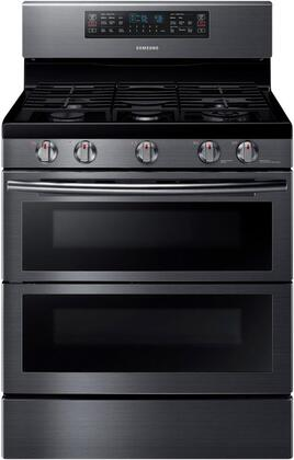 "NX58K7850SG 30"" Freestanding Gas Range with 5.8 cu. ft. Oven Capacity  Flex Duo convection fans  Soft Close Dual oven door  Self-cleaning and Wi-Fi Connection"