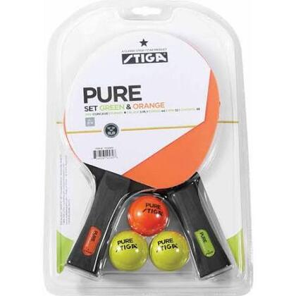 T159401 Pure Color Advance Two Player Set with Three Pure Balls  a Green and an Orange