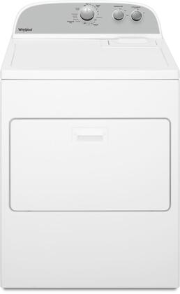 WGD4950HW Top Load Gas Dryer with 7 cu. ft. Capacity  AutoDry Drying System  Hamper Door  Timed Dry  3 Drying Temperatures  in