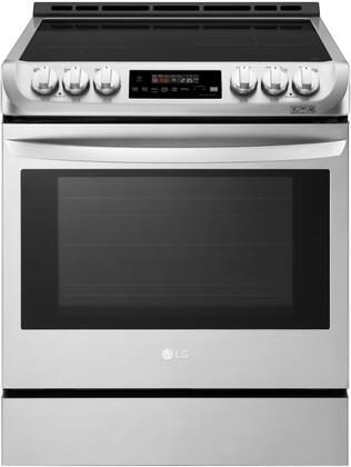 LSE4616ST Slide In Range with Induction Cooktop  6.3 cu. ft. Capacity  Double Oven  ProBake  and Self EasyClean  in Stainless