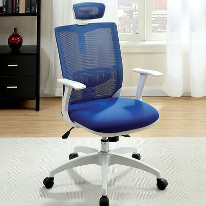 Sargas CM-FC641BL Office Chair with Contemporary Style  Height Adjustable Headrest  Mesh Back and Cushion Seat  Adjustable Height in