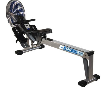 35-1405 ATS Air Rower with Smooth Air Resistance  Sliding Ball-Bearing Rollers  Oversized Chrome Seat Rail and Wheels for 607950