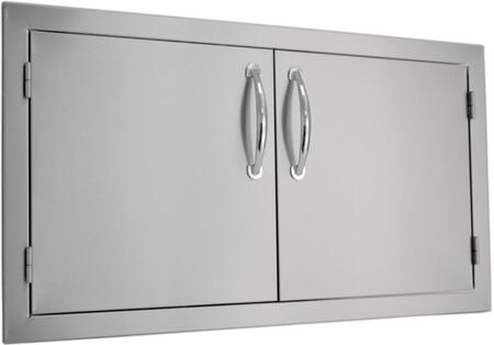 SODX2AD36 Built-in Deluxe Double Door with .375 inch  Self-Rimming Trim Bezel  Raised Reveal Design  Easy to Gasp Handles and Premium Stainless Steel