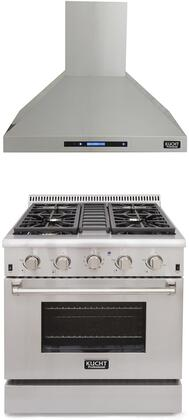 Professional Series 2-Piece Stainless Steel Kitchen Package with KRG3080U 30