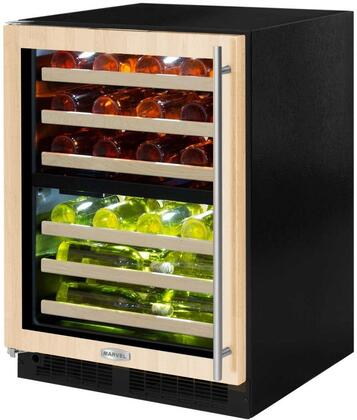 Marvel ML24WDF4LP 15 Inch Built-In Dual Zone Wine Cooler with 40 Bottle Capacity, in Panel Ready
