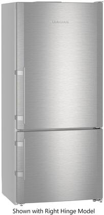 "CS1401RIM 30"" Energy Star Rated Freestanding Left Hinge Bottom Freezer Refrigerator with 12.8 cu. ft. Total Capacity  Ice Maker  DuoCooling  and 3 Glass"