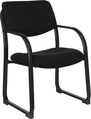 BT-508-BK-GG Black Fabric Executive Side Chair with Sled