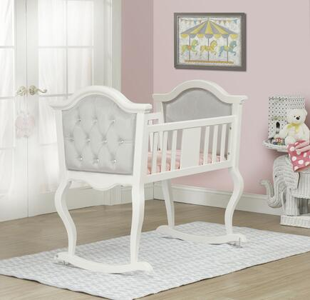 8010FW French White Lola Cradle With Silver