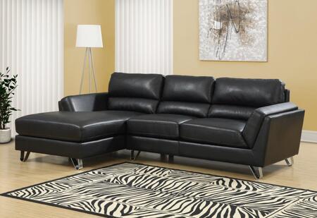 I 8210BK Sofa - Sofa Lounger / Black Bonded