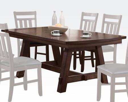 Luciano Collection 71430 78 inch  Dining Table with Ranch Style  Rectangular Shape and Wood Frame in Distressed Dark Walnut