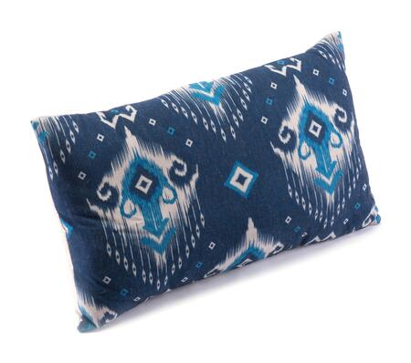 A11108 Ikat Pillow 1 Blue &