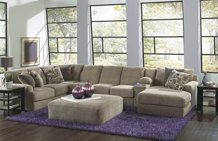 Malibu Collection 3239-62-30-88-76-2668-26/2669-26/2683-28 172 inch  4-Piece Sectional with Left Arm Facing Section with Corner  Armless Sofa  Console with