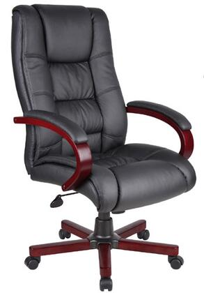 Boss Office Products B8991-M Boss High Back Executive Wood Finished Chairs