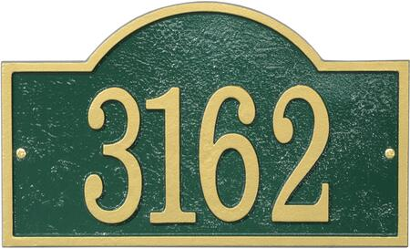 Fast & Easy Collection FEA1GG Arch House Numbers Plaque with Cut-Out Shape  Made in the USA  Alumi-Shield All Weather Coating and Aluminum Material in Green