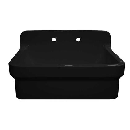 WHCW3022-8-BLACK Countryhaus Fireclay Utility Sink with High