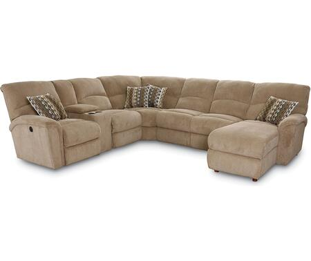 Grand Torino Collection 230-68-04-41-86/4169-16/1207-17 4-Piece Sectional Sofa with Power Left Arm Facing 1-Arm Double Reclining Loveseat w/ Storage  Wedge