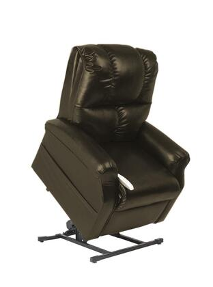 Main Street NM2001-SKM-A01 33 inch  Power Recliner Lift Chair with 3 Position Mechanism  Divided Back  and Sinuous Spring and Foam Seat in Lexi Mushroom