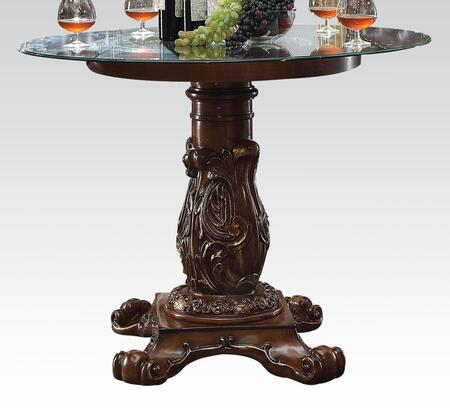 62030 Vendome Counter Height Table with Peddestal and 48 inch  Glass Top in