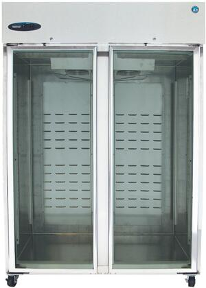 """CF2S-FGY 55"""""""" Energy Star Qualified Commercial Series Glass Door Reach-In Freezer with 51 cu. ft. Capacity  Stainless Steel Construction  Unique Ducted Air"""" 700216"""