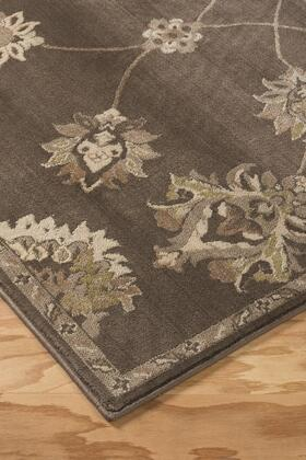 Adelina R401841 120 X 85.2 Large Size Rug With Floral Motif Design  Machine-woven  6mm Pile Height  Spot Clean Only And Polypropylene Material In Taupe