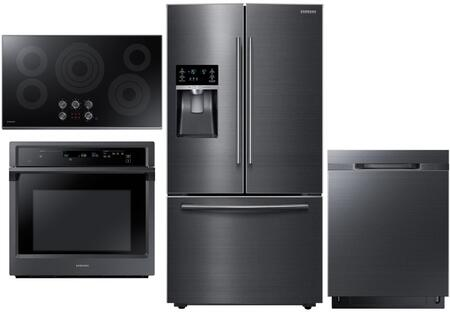 4 Piece Kitchen Appliance Package with RF28HFEDBSG 36