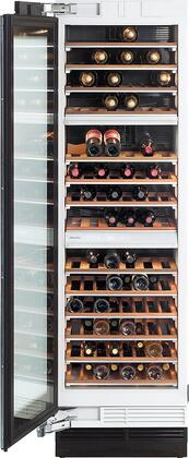 "KWT1613SF 24"" MasterCool Series Wine Storage System with 102 Bottle Capacity  14 Acacia Wood Shelves  UV Protected Glass Door  Door & Temperature Alarm and"