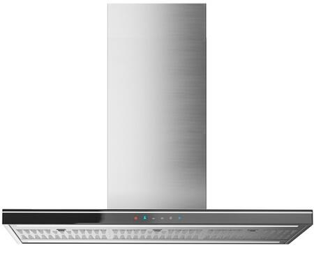 IS36LEOLABLK 36 inch  Leola Black Island Range Hood with Touch Sensitive Controls  Fluorescent Lighting  Quiet Blower  Ducted/Ductless  UL & CSA Listed  in