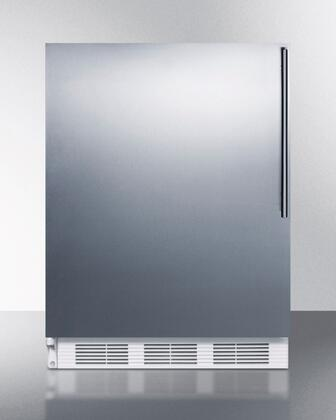 ALB751SSHVLHD 24 inch  ADA Compliant Left Hinge Compact Refrigerator with 5.5 cu. ft. Capacity  3 Adjustable Wire Shelves  Automatic Defrost  Adjustable Thermostat