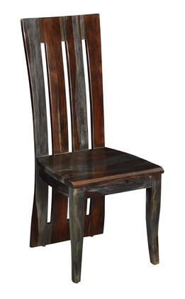 75359 42 inch  Dining Chair with Tapered Legs  Slat Back and Wood Grains in Sheesham Highlight