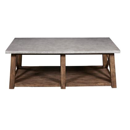 DSD153210 Farmhouse Style Distressed Cocktail Table In