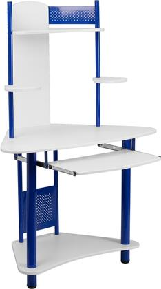 NAN-JN-2705-BL-GG Blue Corner Computer Desk with